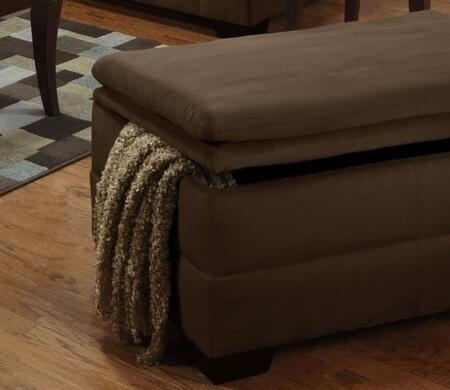 Simmons Upholstery 6565095LUNA Storage Ottoman with Hidden Storage Compartment, Fabric Upholstery and Stitched Detailing