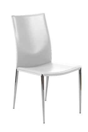 Euro Style 17224WHT Max Series  Dining Room Chair