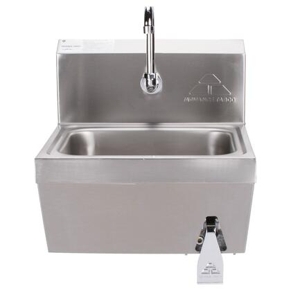 "Advance Tabco 7-PS-62 12"" Space Saver Knee Valve Operated Premium Wall Mounted Hand Sink with Heavy Duty Faucet"