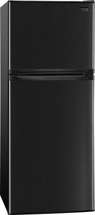 """Frigidaire FFET1022Q 24"""" Energy Star Certified Apartment-Size Top-Freezer Refrigerator with 9.9 Cu. Ft. Capacity, Adjustable Wire Shelves, Clear Crispers, Ready-Select Controls and Reversible Doors in"""