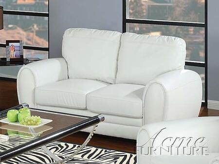 Acme Furniture 15226 Amber Series Bonded Leather Stationary with Wood Frame Loveseat