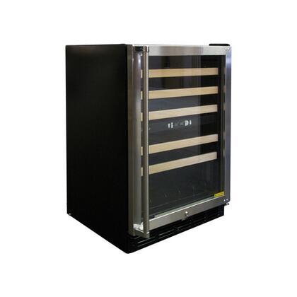 "Vinotemp VT45SB10 22.875"" Freestanding Wine Cooler, in Black"
