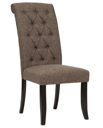 "Signature Design by Ashley Tripton D530-0X 20"" Dining Upholstered Side Chair with Button Tufting, Rolled Back Design and Fabric Upholstery in"