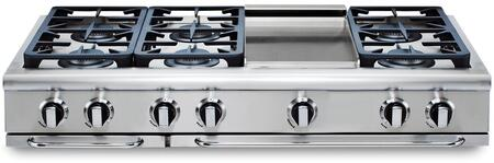 """Capital GRT486GN 48"""" PRECISION Series Natural Gas Sealed Burner Style Cooktop  Appliances Connection"""
