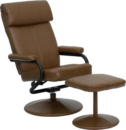 Flash Furniture BT7863PALOMINOGG Palomino Series Contemporary Leather Metal Frame  Recliners