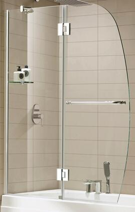Picture of Aurora 0ASBS02-A 48W x 58H Frame-less Shower Door with Premium 0375 10mm Thick Clear Tempered Glass and Hardware Finished in