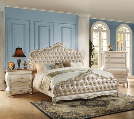 Acme Furniture Chantelle 3 Piece Queen Size Bedroom Set