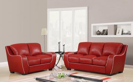 Global Furniture USA U8080REDSL Living Room Sets