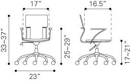 """Zuo 205184 22""""  Office Chair"""