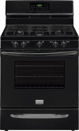 """Frigidaire FGGF3058R 30"""" Gallery Series Gas Range with 5.0 cu. ft. Oven Capacity, 5 Top Burners, True Convection System, Quick Preheat, One-Touch Quick Self Clean and Continuous Grates in"""