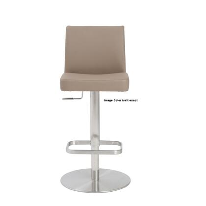 Euro Style 04367WHT Skyler Series Residential Faux Leather Upholstered Bar Stool