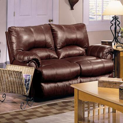 Lane Furniture 20421174597533 Alpine Series Leather Reclining with Wood Frame Loveseat