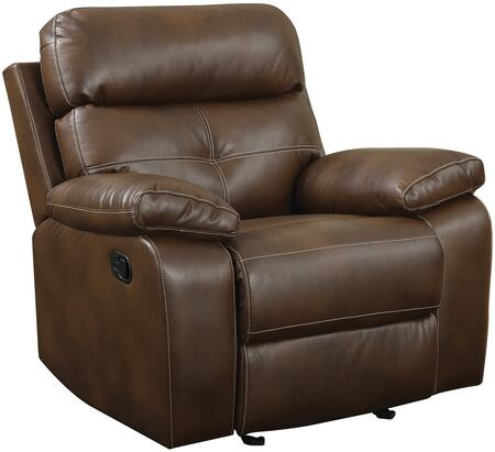Coaster 601693 Damiano Series Transitional Faux Leather Wood Frame  Recliners