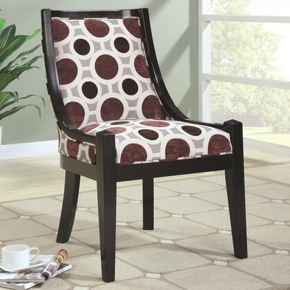Coaster 902065 Accent Seating Series Fabric Wood Frame Accent Chair