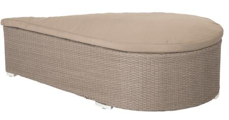 Euro Style 03391TPE Lavinia Series Contemporary Fabric Ottoman