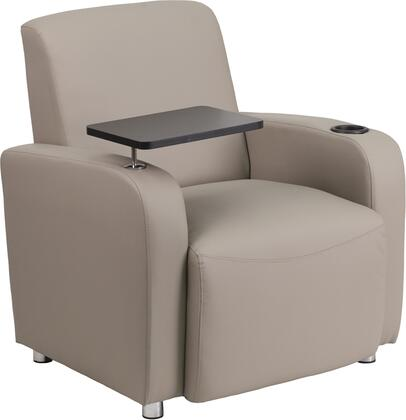 Flash Furniture BT8217GG Leather Guest Chair with Tablet Arm, Chrome Legs and Cup Holder