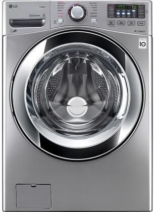 "LG WM3670H 27"" Energy Star Qualified Front Load Washer with 4.5 cu. ft. Ultra Large Capacity, 12 Wash Programs, Allergiene Cycle, Steam Option, and Child Lock"