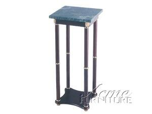 Acme Furniture 02281 Verda Contemporary Dark Square Marble Top Stand