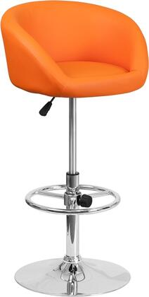 Flash Furniture CHTC31066LORGGG Residential Vinyl Upholstered Bar Stool