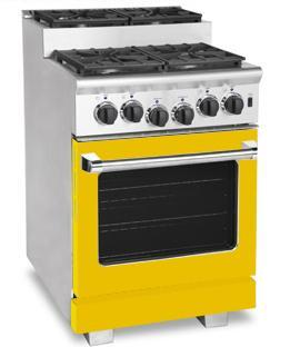 American Range ARR244SYW Titan Series Gas Freestanding Range with Sealed Burner Cooktop, 3.71 cu. ft. Primary Oven Capacity, in Yellow