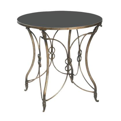 Sterling 511188 Table Series Transitional Metal Round None Drawers End Table