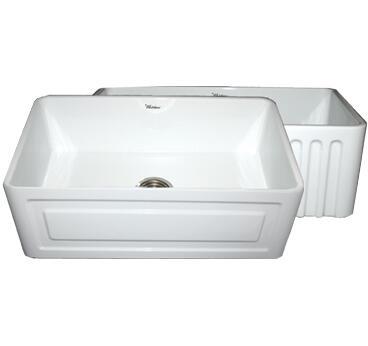 Whitehaus WHFLRPL3018BL Kitchen Sink