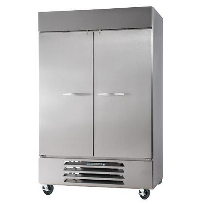 """Beverage-Air HBRF49 52"""" Horizon Series Two Section [Solid Door] Dual Temperature Reach-In Refrigerator/Freezer, 49 cu.ft. Capacity, Stainless Steel Exterior and Interior, with Bottom Mounted Compressor"""