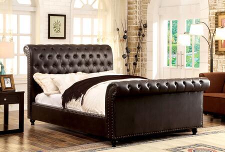 Furniture of America CM7603BREKBED Bennett Series  King Size Sleigh Bed