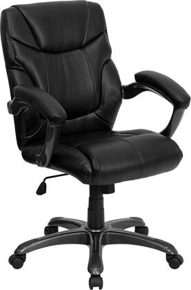 "Flash Furniture GO724MMIDBKLEAGG 26.5"" Contemporary Office Chair"