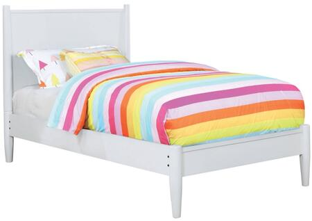 Furniture of America CM7386WHTBED Lennart II Series  Twin Size Panel Bed