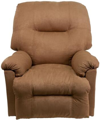 """Flash Furniture Calcutta Collection 36"""" Power Recliner with Plush Padded Arms, Infinite Reclining Positions, CA117 Fire Retardant Foam and Microfiber Upholstery in"""