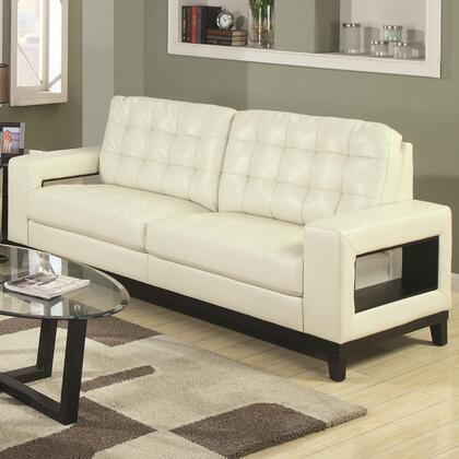 Coaster 504421 Paige Series Stationary Bonded Leather Sofa