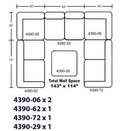 Jackson Furniture 439072K2 Sectional Sofas