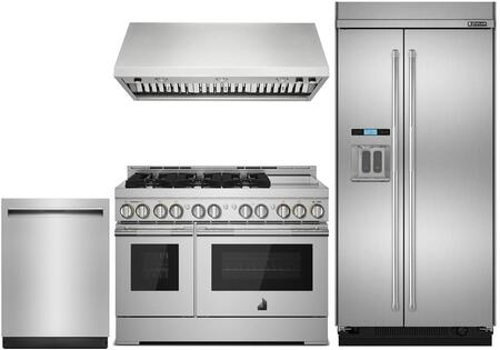 Jenn Air 848420 4 Piece Stainless Steel Kitchen Appliances Package