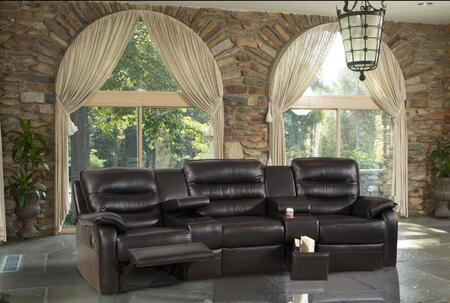 Novo Home 80705PC Viewpoint Series Reclining Leather Sofa