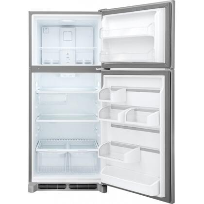 """Frigidaire FGTR2045Q 30"""" Wide 20.4 cu. ft. Capacity Top Freezer Refrigerator with SpaceWise Organization System, 2 Full-Width Sliding SpillSafe Shelves, Humidity-Controlled Crispers and Reversible Doors in"""