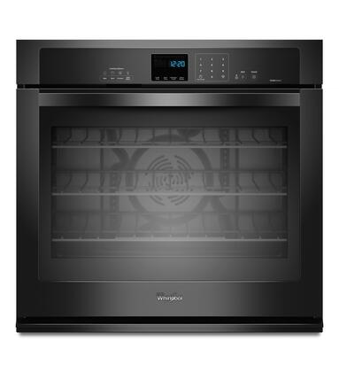 "Whirlpool WOS92EC0AX 30"" Single Electric Wall Oven With 5.0 Cu. Ft. Capacity TimeSavor Ultra True Convection Oven, Self-Cleaning, Steam Clean Option, Hidden Bake Element, Digital Clock, Sabbath Mode"