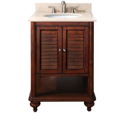 """Avanity TROPICA-VS24-A Tropica Series Vanity Set - 24"""" Vanity with Black Granite Top and Undermount Sink:"""