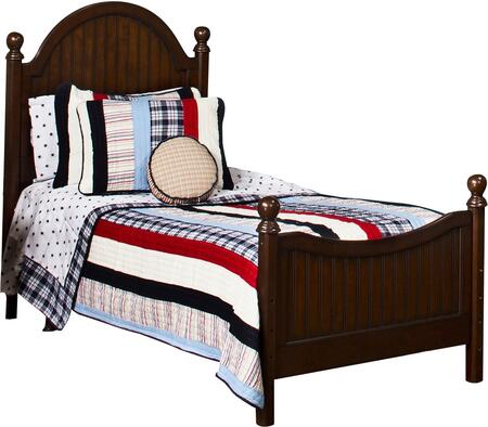 Hillsdale Furniture 1125BR Westfield Poster Bed Set with Sculpted Feet, Curved Headboard, Rails Included and Wood Construction in Espresso Finish