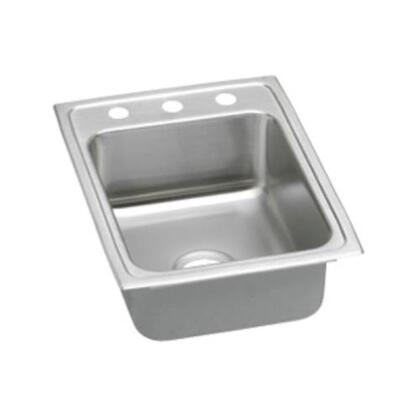 "Elkay LRADQ1722650 17"" Top Mount Self-Rim Single Bowl 18-Gauge ADA Compliant Stainless Steel Sink"
