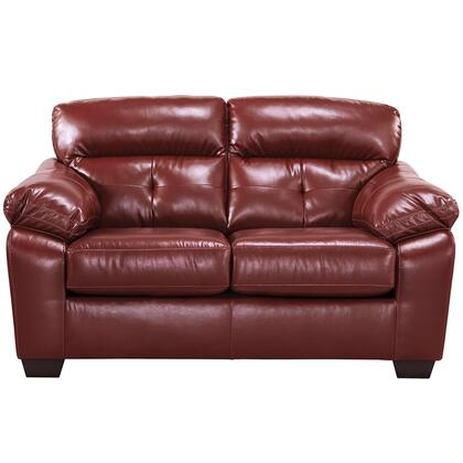 Bastrop Loveseat Crimson