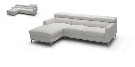 1281b italian leather sectional, left arm chaise facing, white 10