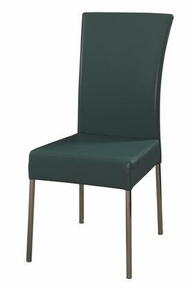 Powell 433496 Modern Fabric Metal Frame Dining Room Chair