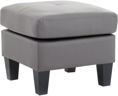 Glory Furniture G461O Newbury Series Contemporary Faux Leather Ottoman
