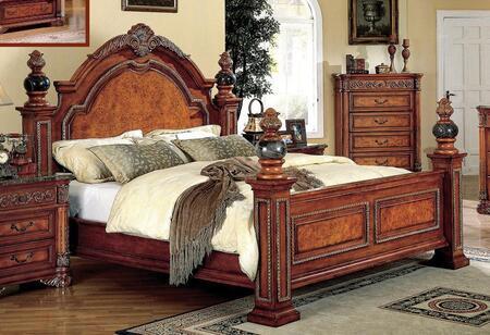 Meridian ROYALPANELK Royal Series  King Size Poster Bed