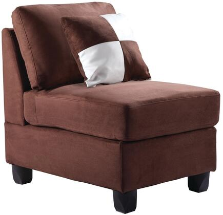 Glory Furniture G632AC Suede  in Chocolate