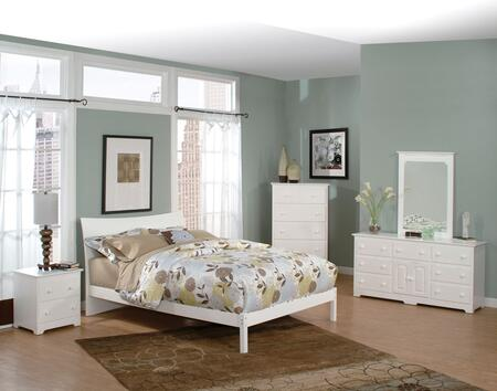 Atlantic Furniture SOHOFWHTW  Twin Size Bed
