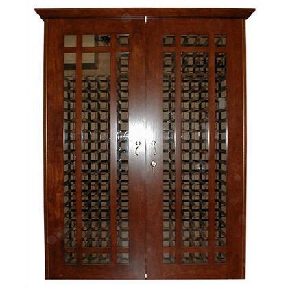 Vinotemp VINO-700GRID Oak Wine Cooler Cabinet,