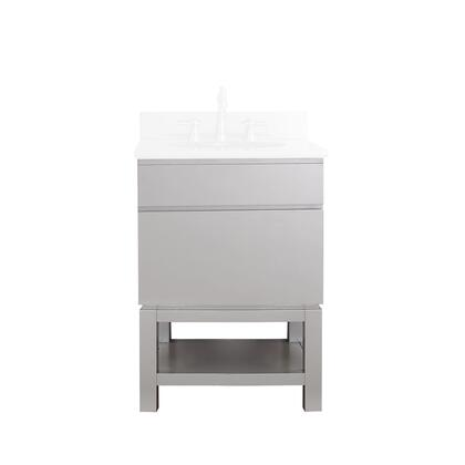 Avanity TRIBECA-VB Tribeca Freestanding Vanity Only with 1 Soft Closed Drawer, Base, Poplar Solid Wood and Plywood, in Chilled Grey