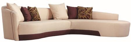 Armen Living LC2029SEC  Sectional Sofa Cream Sofa
